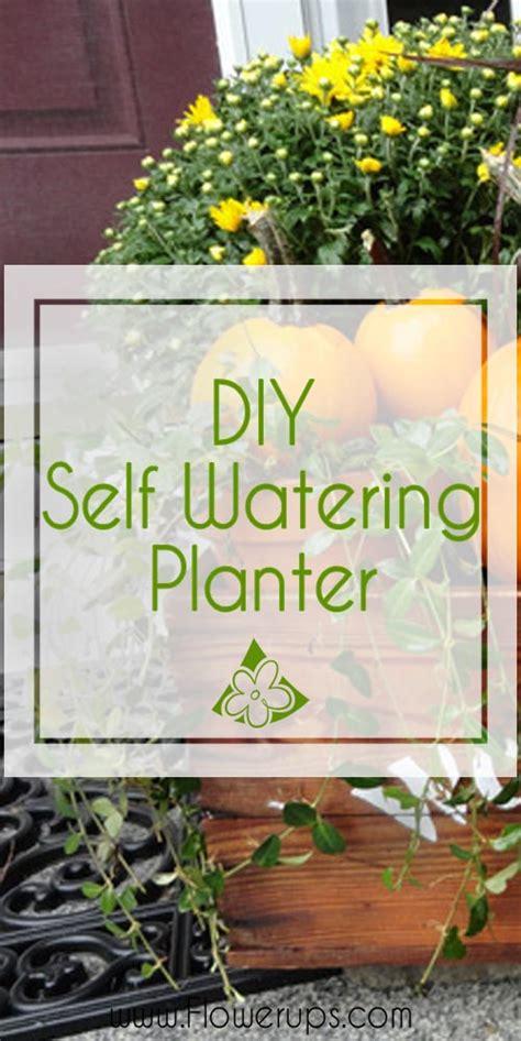diy self watering herb garden creative gardens fall self watering planter flowerups