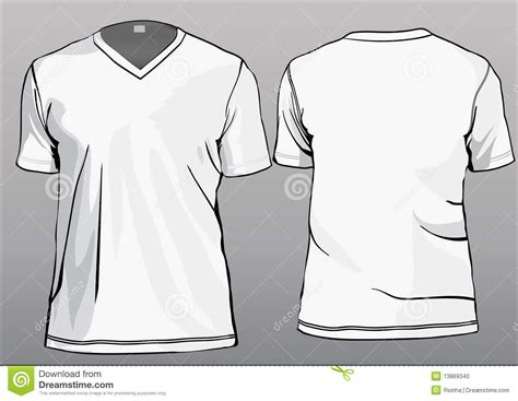 v neck tshirt template tshirt template with v neck stock photo image 13869340