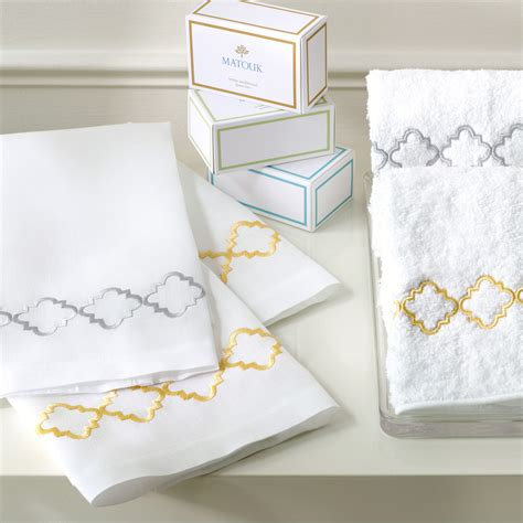 guest bathroom towels matouk quatrefoil guest towels bath