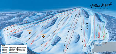 pine knob ski resort ski trail map 7778 sashabaw rd