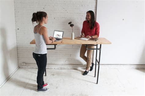 how to make a standing desk diy plumbers pipe standing desk
