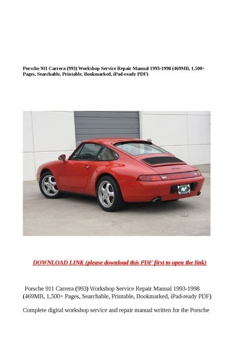 car repair manuals online free 1996 porsche 911 navigation system service manual old cars and repair manuals free 2005 porsche 911 interior lighting service