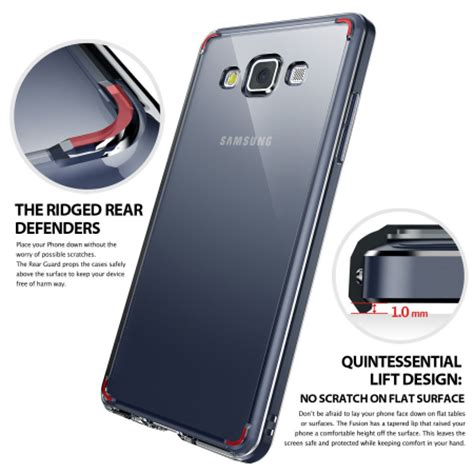 Samsung A3 Ringke Fusion Clear Soft Casing Bumper Cover Keren rearth ringke fusion samsung galaxy a3 2015 clear