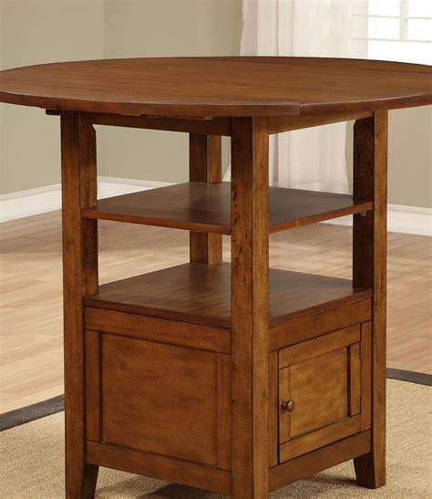 counter height drop leaf table stockton warm brown drop leaf counter height dining