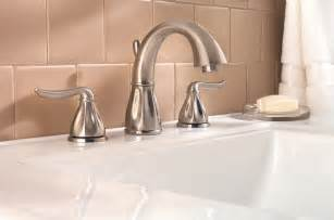 How To Install A Bathroom Sink Drain - pfister sedona 2 handle 8 quot widespread bathroom faucet in brushed nickel touch on bathroom sink