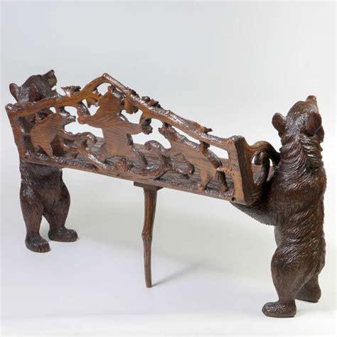 black forest bear bench black forest bear bench at 1stdibs