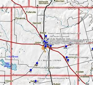 map of snyder fort tours scurry county historical markers