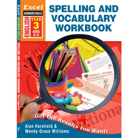 spelling and vocabulary workbook 1407141902 buy excel basic skills spelling and vocabulary workbook year 3