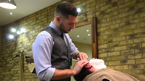 haircut deals montreal old school straight shave by the barber luke youtube