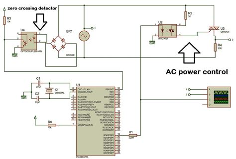 scr firing circuit diagram ac power with thyristor using pic microcontroller