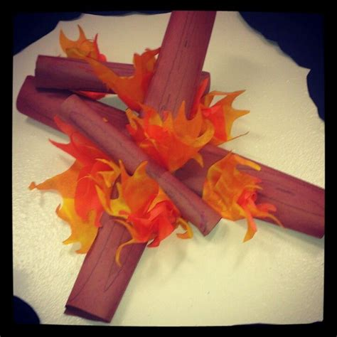 best photos of with construction paper flames