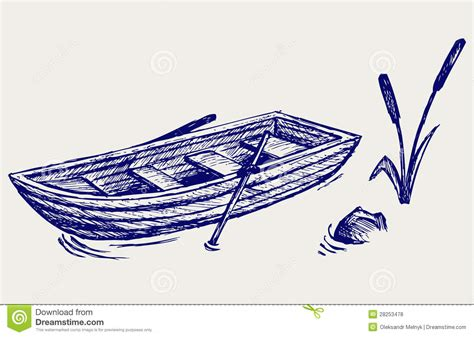 how to draw a boat paddle wooden boat with paddles royalty free stock photos image