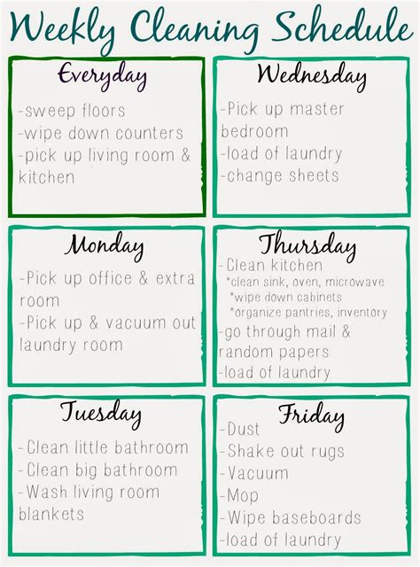 cleaning calendar template orchard free printable cleaning schedule