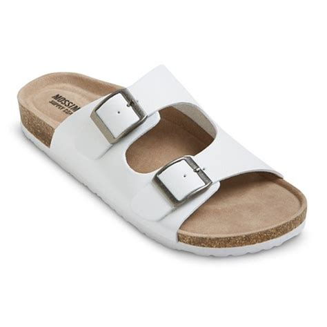 s footbed sandals s bailey two buckle footbed sandals mossimo supply