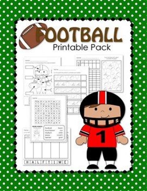 football themed maths worksheets free football themed