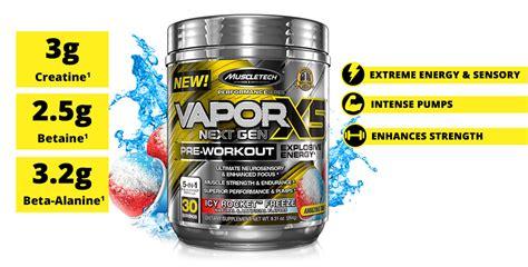 Vapor X5 Next Muscletech Vapor X5 Nextgen Preworkout Prework Out vaporx5 next muscletech