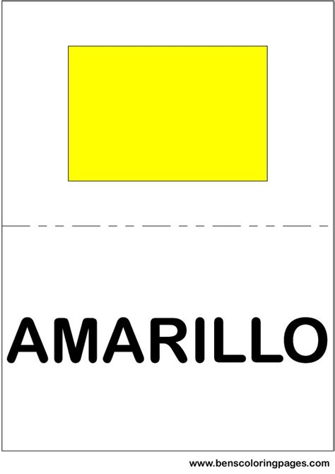 color flag spanish yellow spanish for yellow free coloring pages of colors in spanish