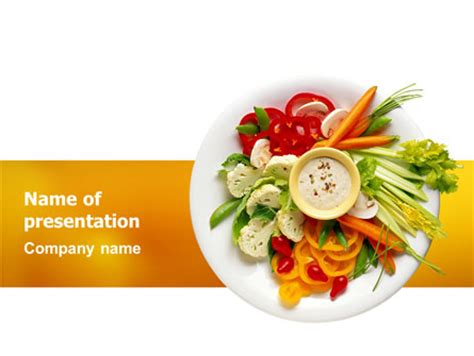 Vegetarian Food Presentation Template For Powerpoint And Keynote Ppt Star Vegetarian Presentation Template