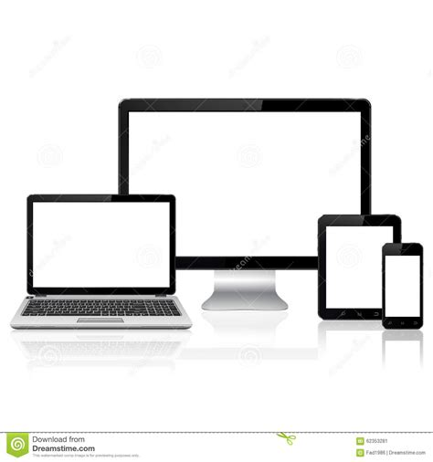 computer tablet mobile computer monitor laptop tablet pc and mobile phone stock