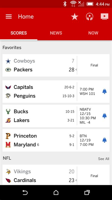 espn app for android espn android app materialup