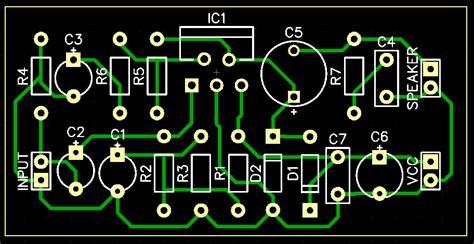 fungsi layout pcb rangkaian power amplifier dengan ic tda2030 sistem