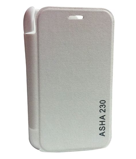 Limited Antigores Nokia Asha 230 Clear Gloss flipmore original quality flip book cover for nokia asha 230 white buy flipmore original
