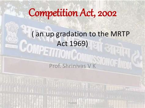 Competition Act 2002 Notes For Mba by Competition Act 2002 Business