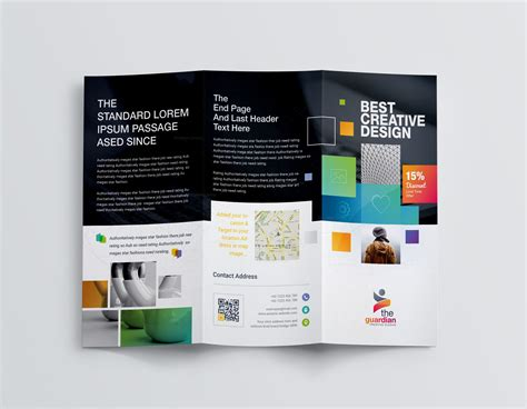 best templates for brochures best creative corporate tri fold brochure template 001211