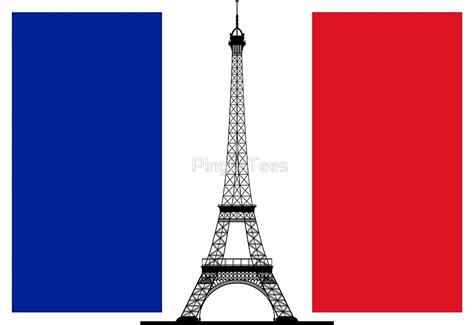 Prancis Flag Shirt quot flag eiffel tower quot by pingustees redbubble