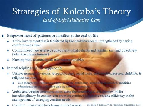 what is comfort care at the end of life kolcaba s theory of comfort ppt video online download