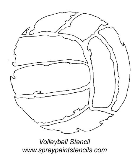 volleyball outline printable stencil requests for january 2007 page 2