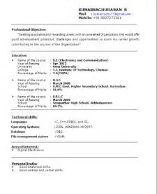 Perfect Resume Objective Examples Perfect Resume Format For Freshers