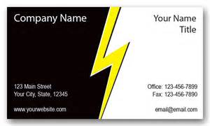 Lightning Business Card Electrical Company Lightning Business Cards