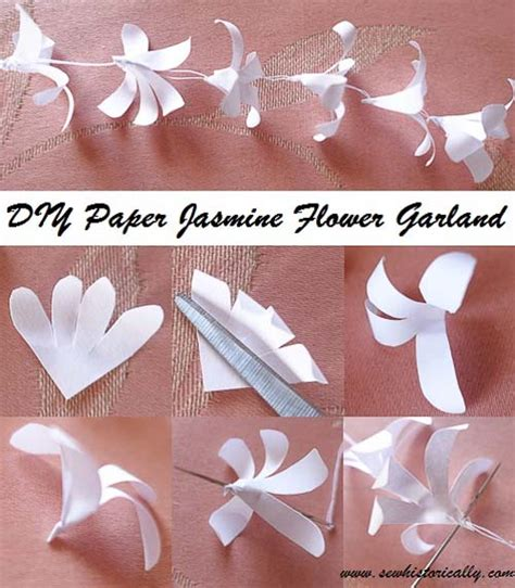 paper flower garland tutorial diy indian paper jasmine flower garland tutorial sew