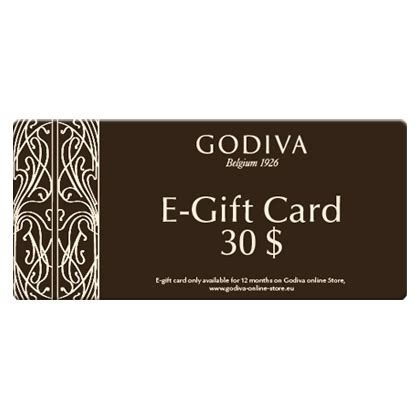 godiva chocolate e gift card 30 dollar delivery in europe others godiva - 30 Dollar Gift Card