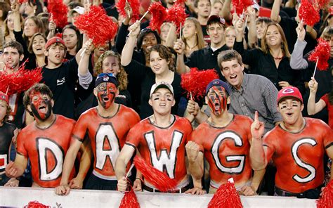 best college student sections georgia student sections in college football espn