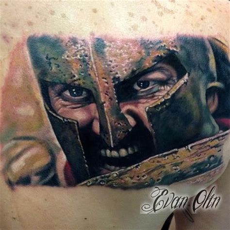 leonidas tattoo color realistic king leonidas from 300