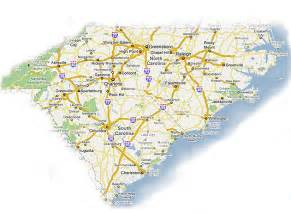 carolina map of cities and south carolina map with cities map