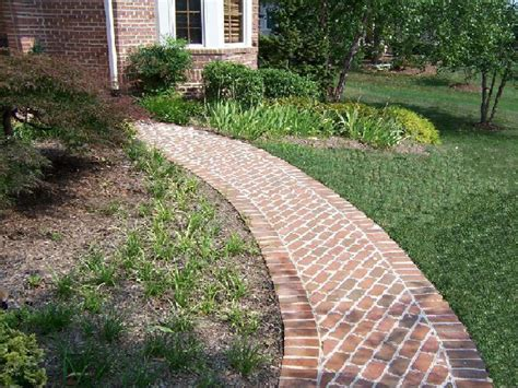 Ideas For Brick Sidewalk Design Brick Walkway Ideas For A Path To Our Pond Outside Pinterest Walkway Ideas Brick Walkway