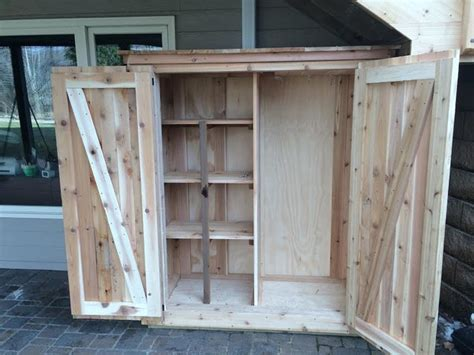 Deck Storage Cabinet Cedar Deck Louvered Roof Patio Cover And Custom Storage Cabinet In Clive Traditional Other