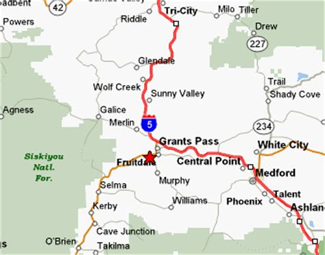 map of oregon grants pass grants pass bed and breakfast grant pass lodging grants