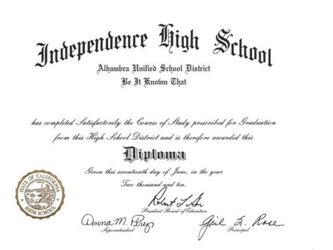 25 High School Diploma Templates Free Download High School Diploma Template With Seal