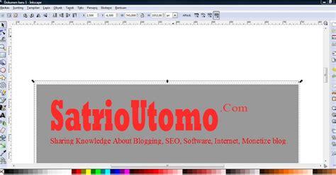 membuat logo dengan inkscape satria techno cara membuat desain web dengan inkscape