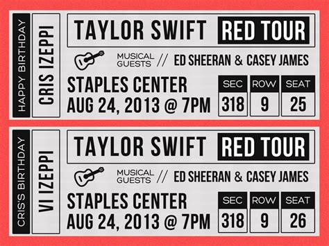 printable tickets for concert taylor swift concert tickets vi izeppi vi izeppi