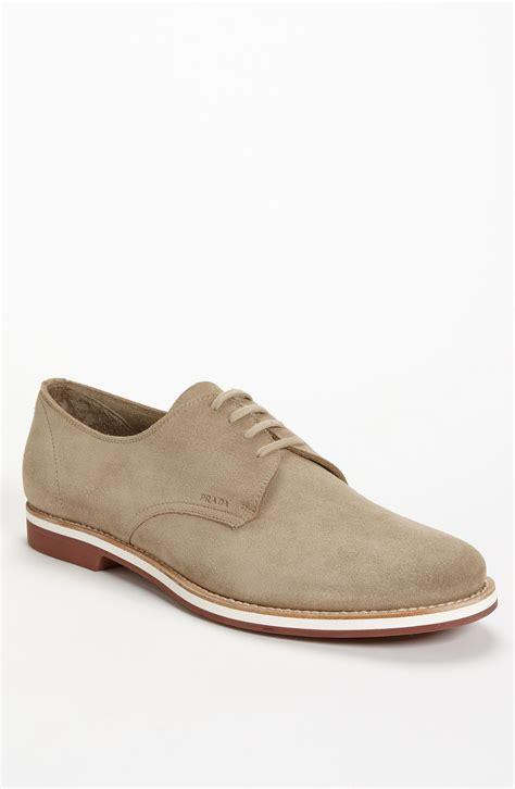 bucks shoes prada suede buck shoe in beige for desert lyst
