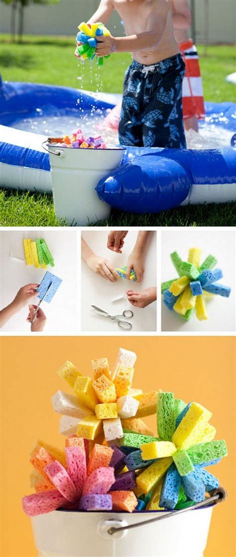 what do you need to get a sponge haircut diy water play projects for kids