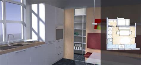 speisekammer küche integriert offene k 252 che schiebet 252 r