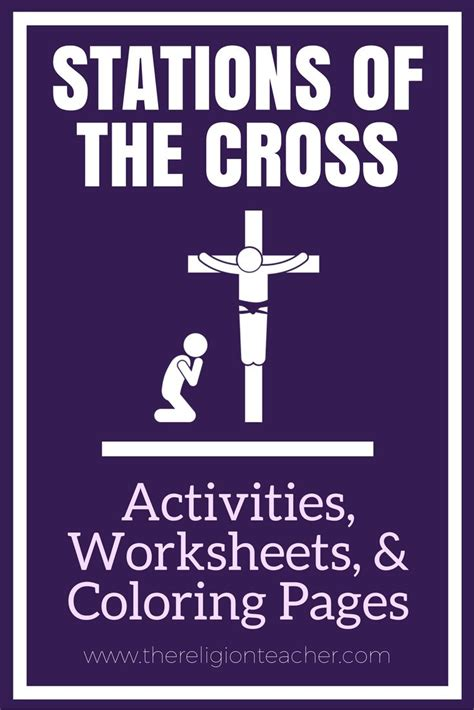 printable images stations of the cross jesus carries his cross lent coloring pages for