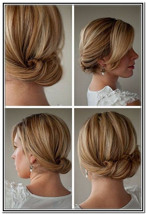 Easy Bridesmaid Hairstyles For Medium Length Hair by Best 25 Shoulder Length Hair Updos Ideas On