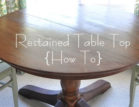 Staining A Kitchen Table Re Stained Pottery Barn Table Top How To Had Been Thinking About Replacing My Pb Kitchen Table
